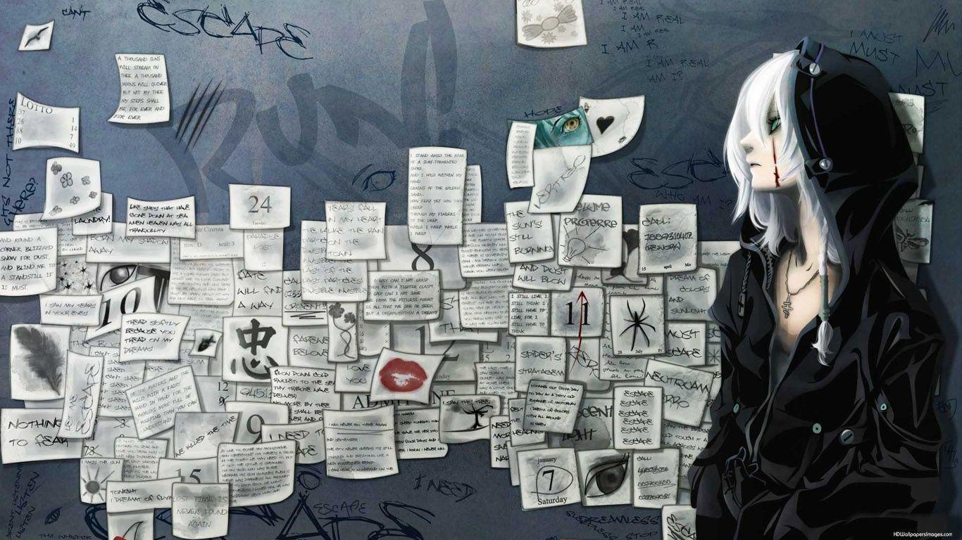 Beautiful Hd Sad Anime Wallpaper Anime Wallpaper 1366x768