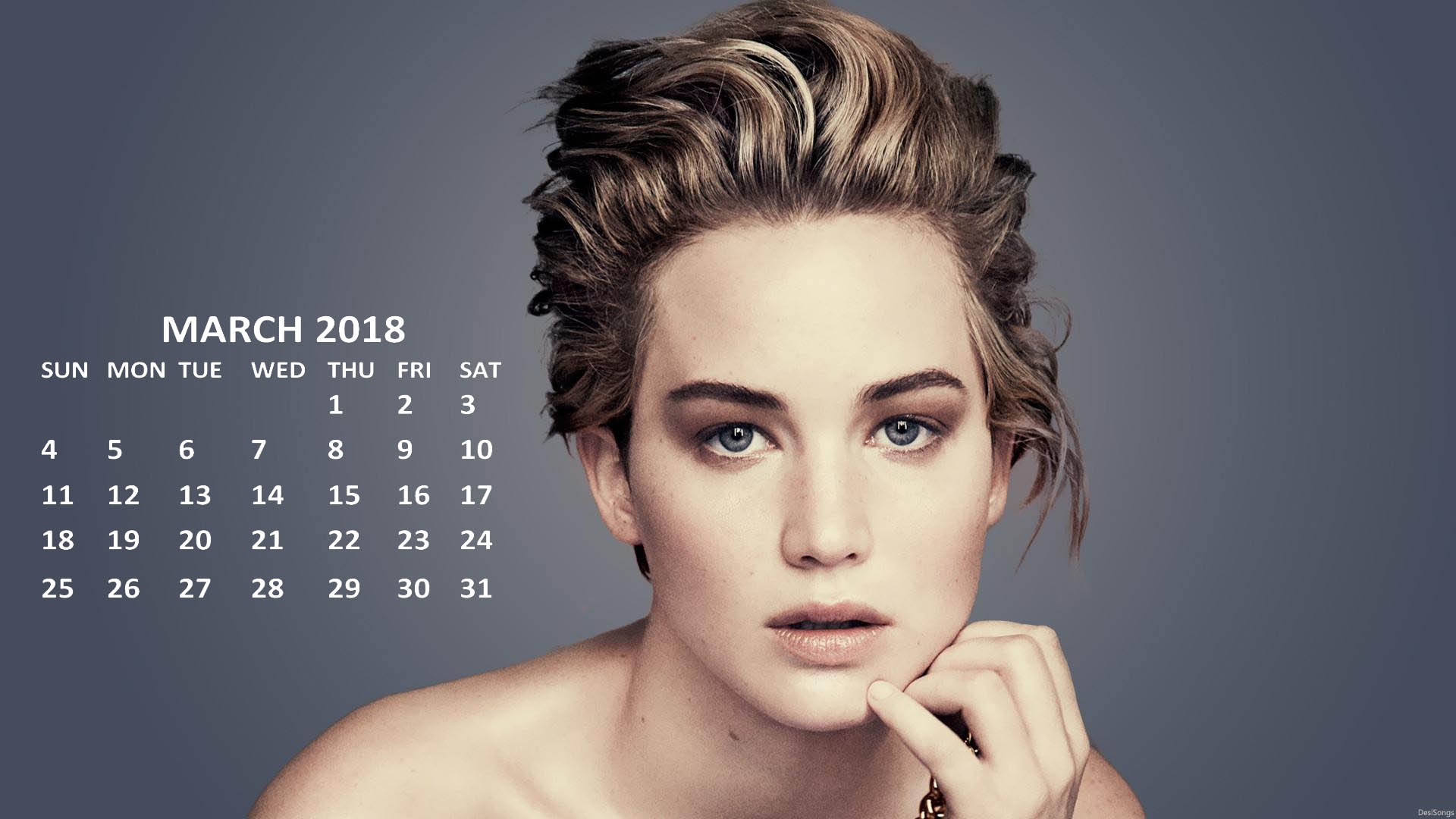 Jennifer Lawrence 2018 Calendars Printable CalendarBuzz 1920x1080
