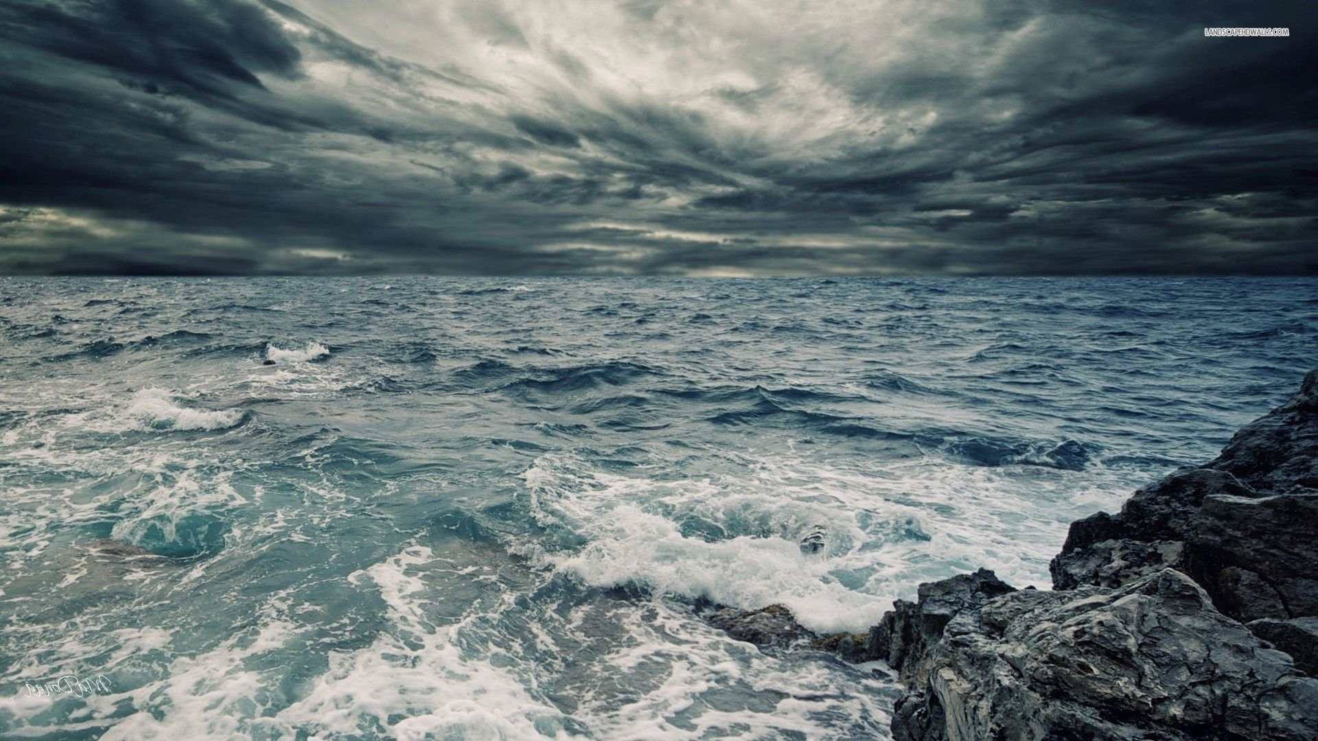 #TW 37 Stormy Ocean Wallpaper, Stormy Ocean Full HD ...