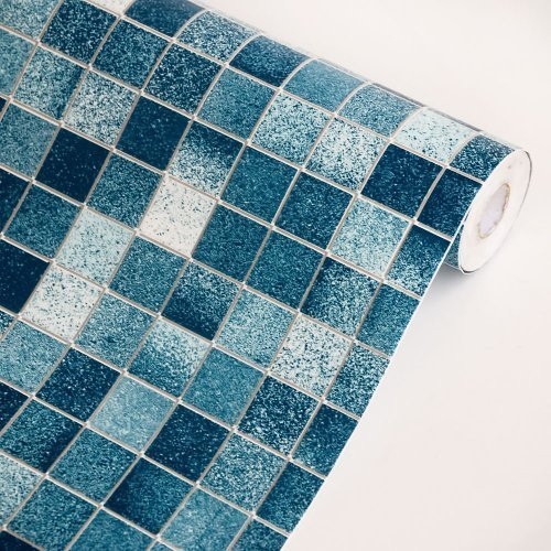 Blue Mosaic   Self Adhesive Wallpaper Home DecorRoll Best 500x500