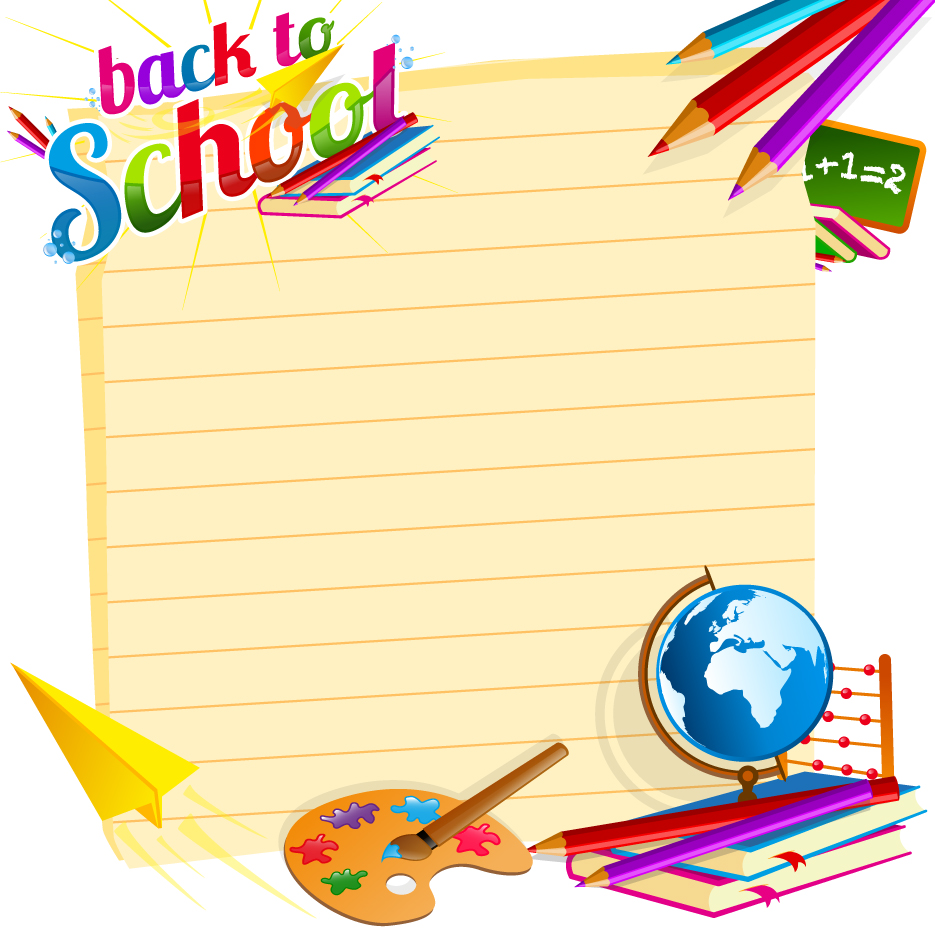School backgrounds set 19   Vector Background download 935x935