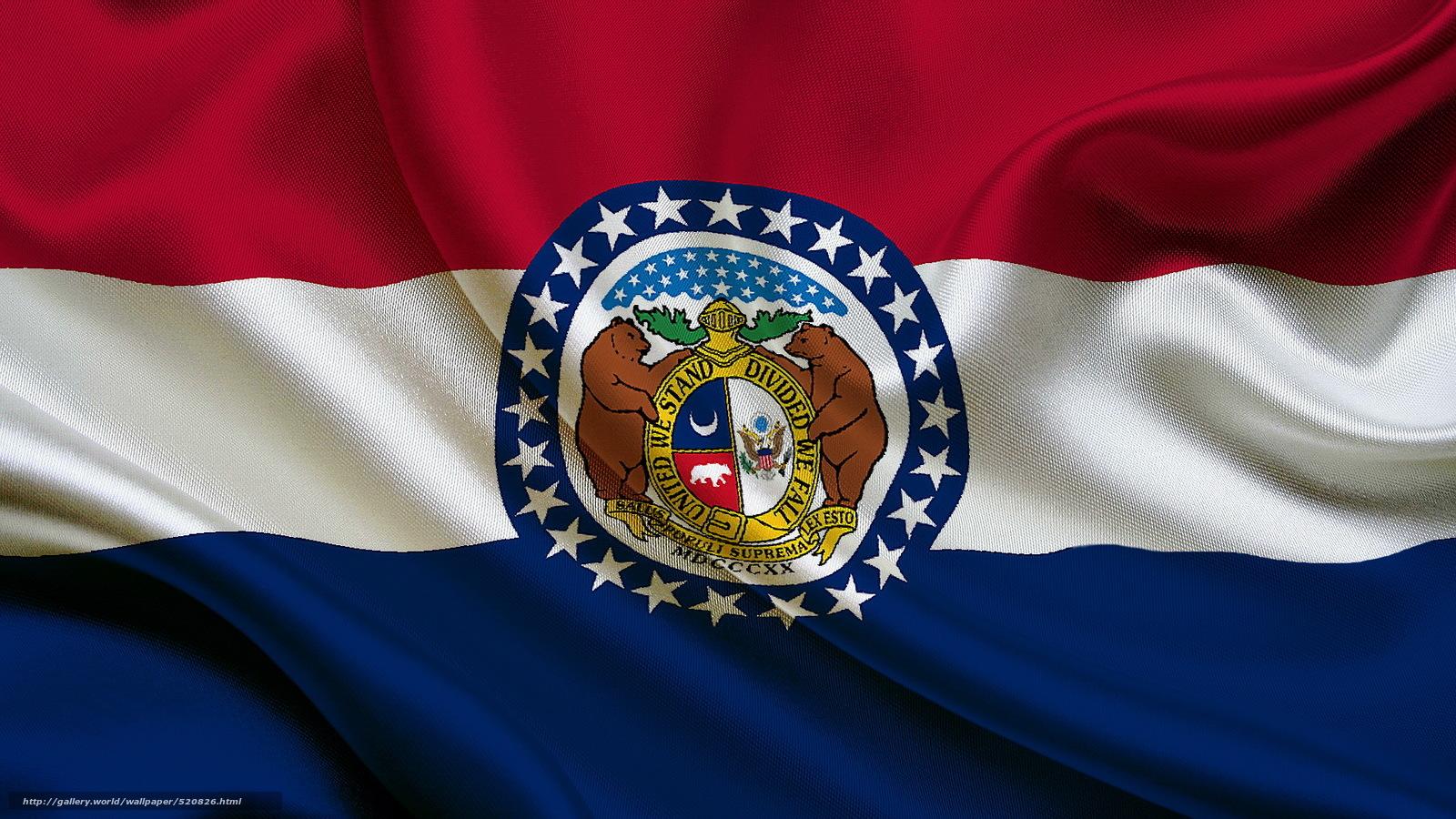 Download wallpaper flag State Missouri state flag of missouri 1600x900