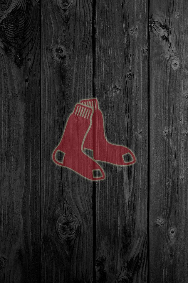 Boston Red Sox Logo Wallpaper Wood  wallpaper hd wood redsox 640x960