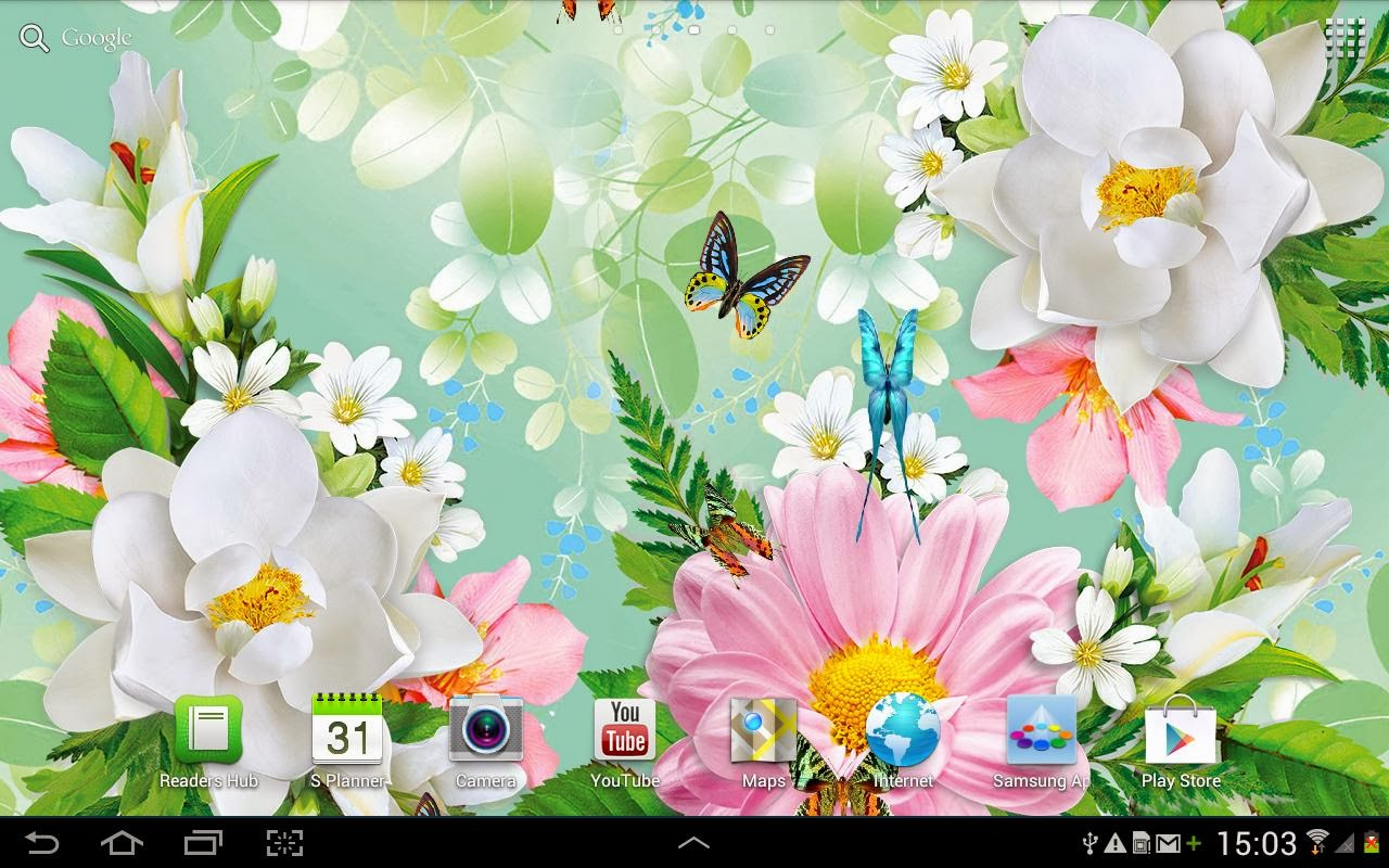 Wallpaper for Android live butterfly wallpaper 1280x800