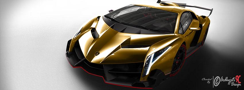Lamborghini Veneno Gold Colour By ArdhyjatiXDesign 851x315