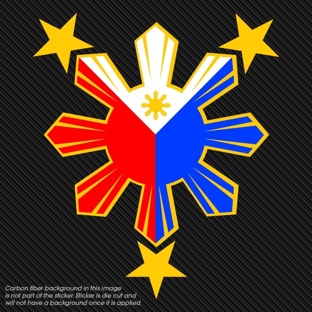 Filipino Pride Star Decal Pinoy Pride Philippine Window Sun Sticker
