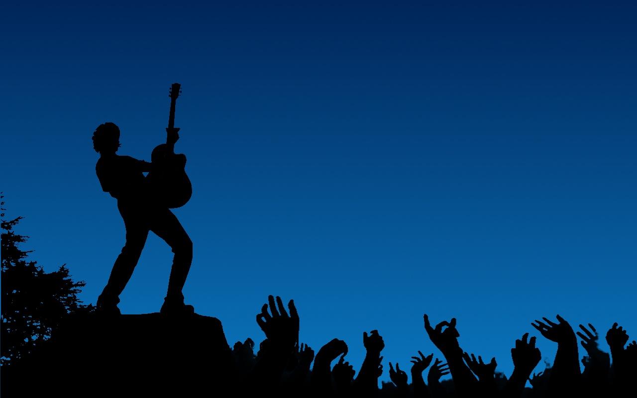 Silhouette Rock Concert Wallpaper Wallpaper wallpaperlepicom 1280x800