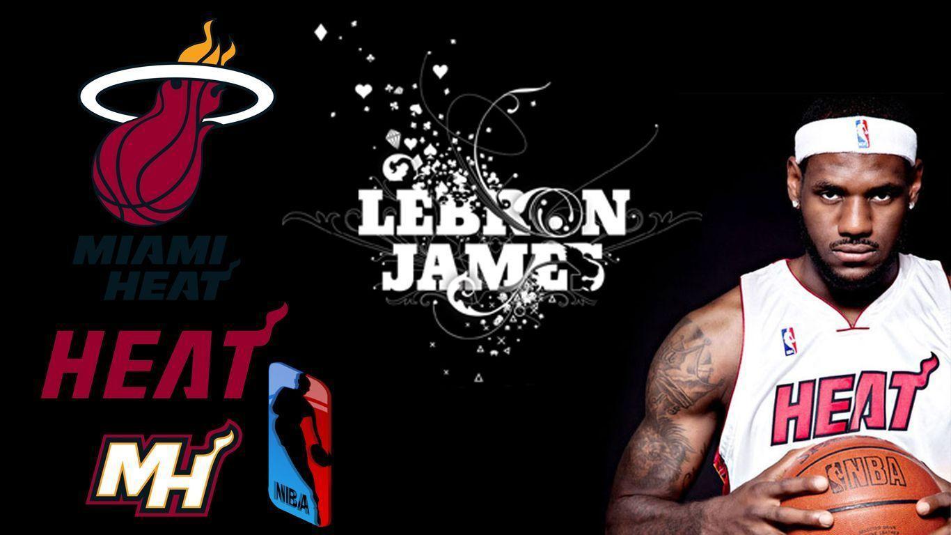 Lebron James Wallpapers Miami Heat 1366x768