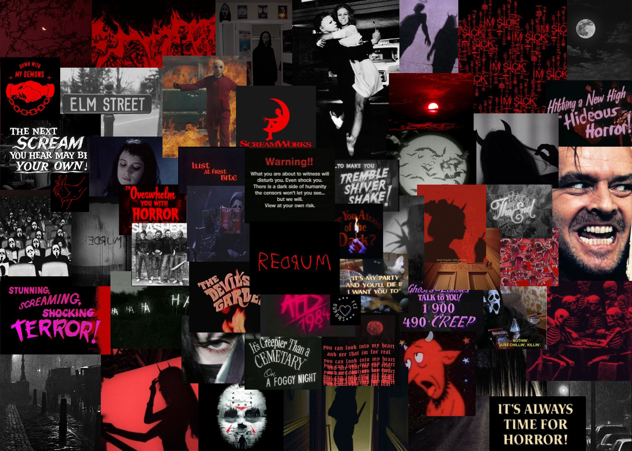 horror aesthetic laptop wallpaper in 2020 Halloween wallpaper 2100x1500