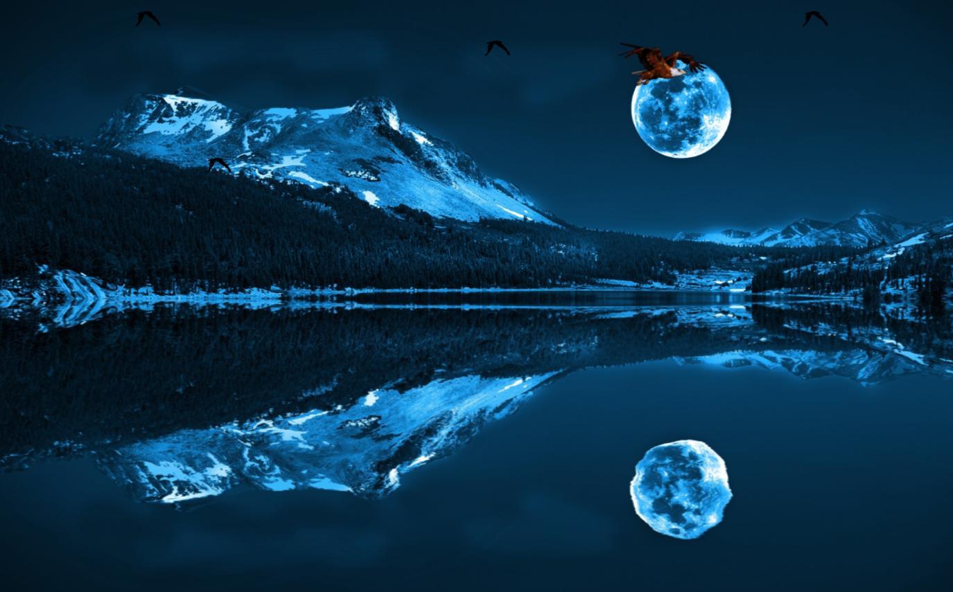 Download Blue Moon Screensaver 1375x855