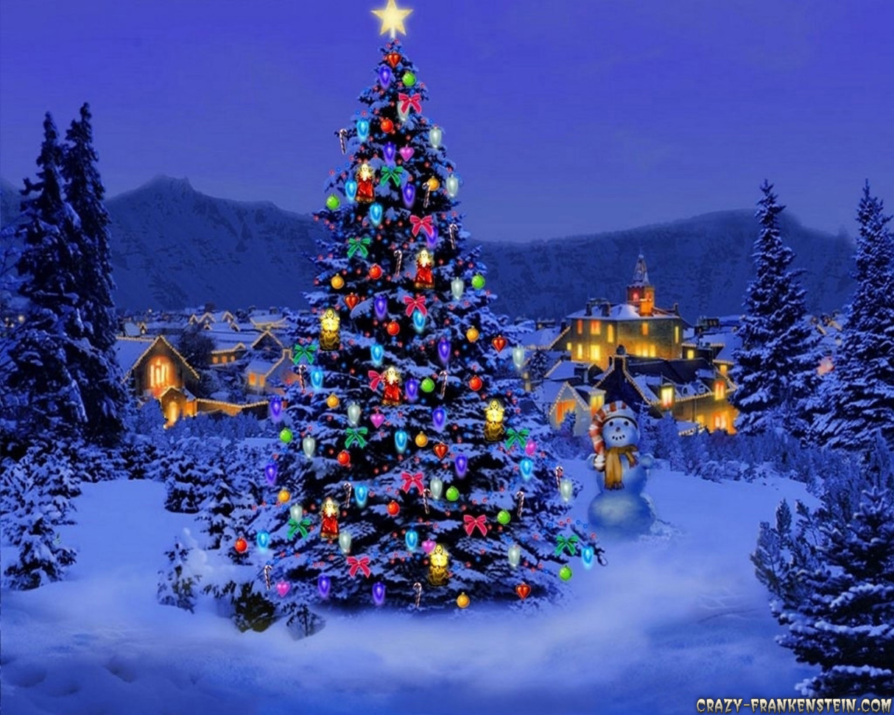 Christmas And Mickey Mouse Desktop Wallpaper 1280x1024