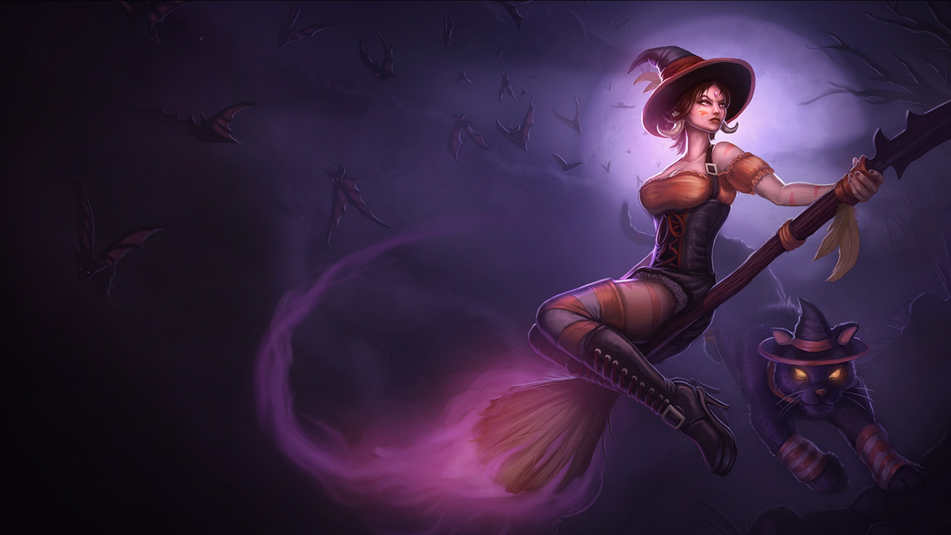 League of Legends fantasy art dark horror witch wallpaper 1920x1080 1920x1080