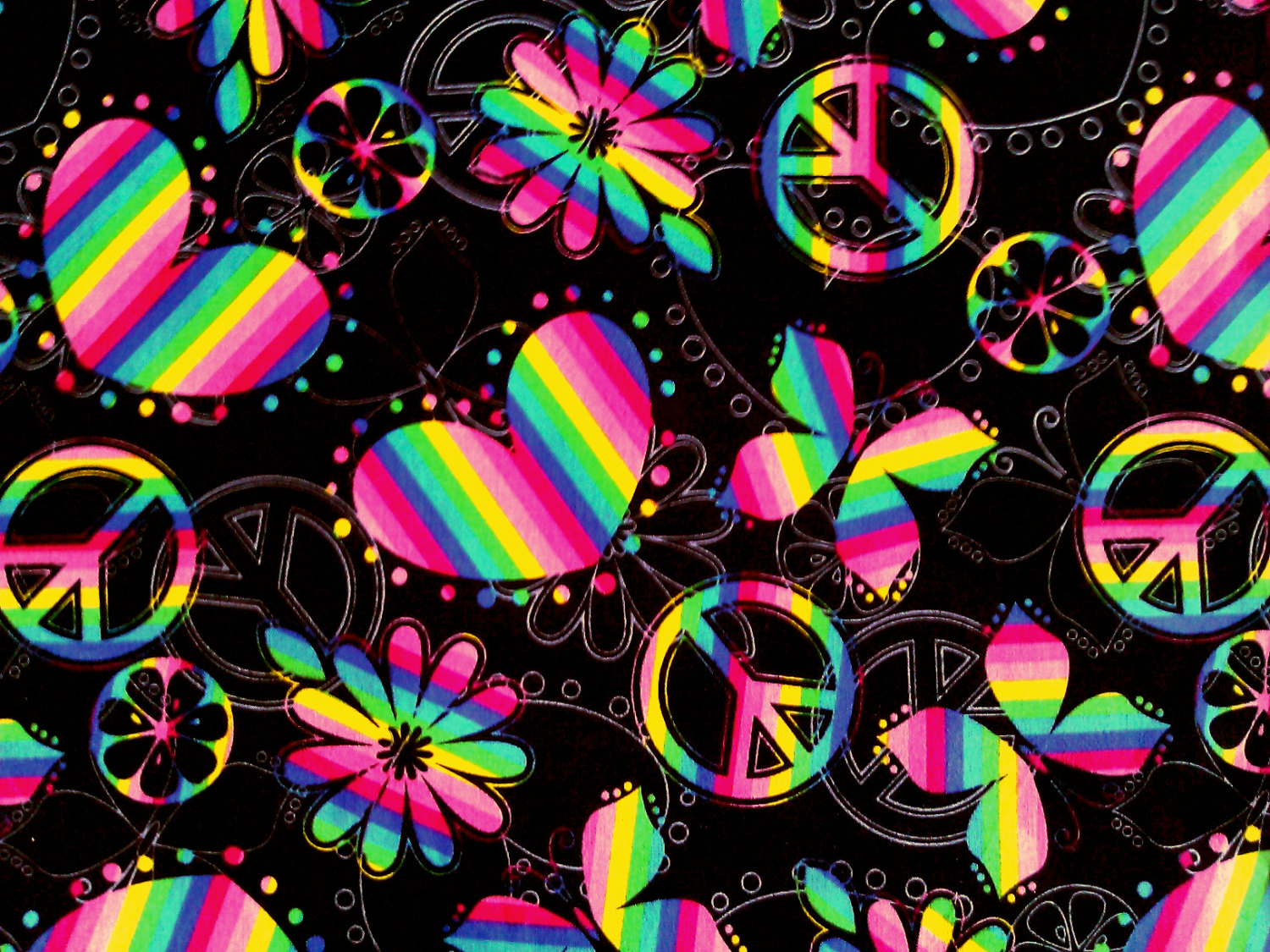 Zebra Peace Sign Backgrounds Neon peace sig 1500x1125