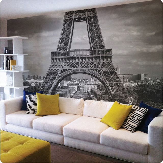 Paris removable wall mural   Contemporary   Wallpaper 640x640
