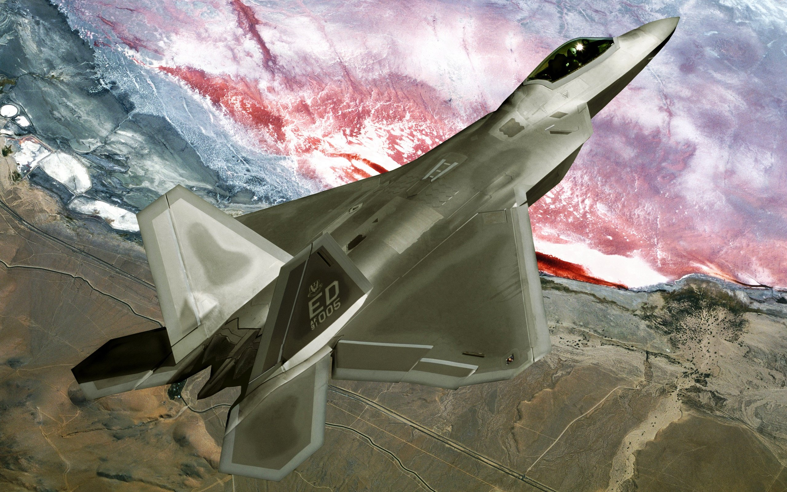 F22 Raptor Fly Over Wallpapers HD Wallpapers 2560x1600