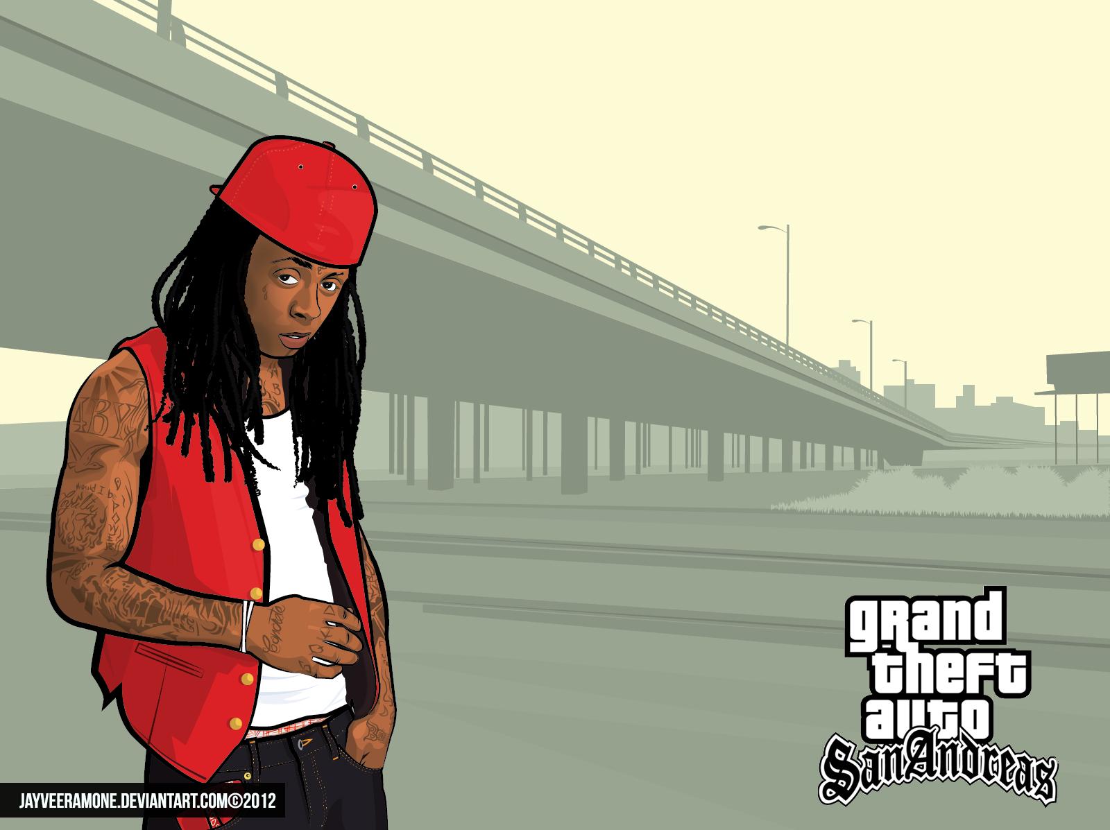 GTA San Andreas Lil Wayne by jayveeramone 1600x1197