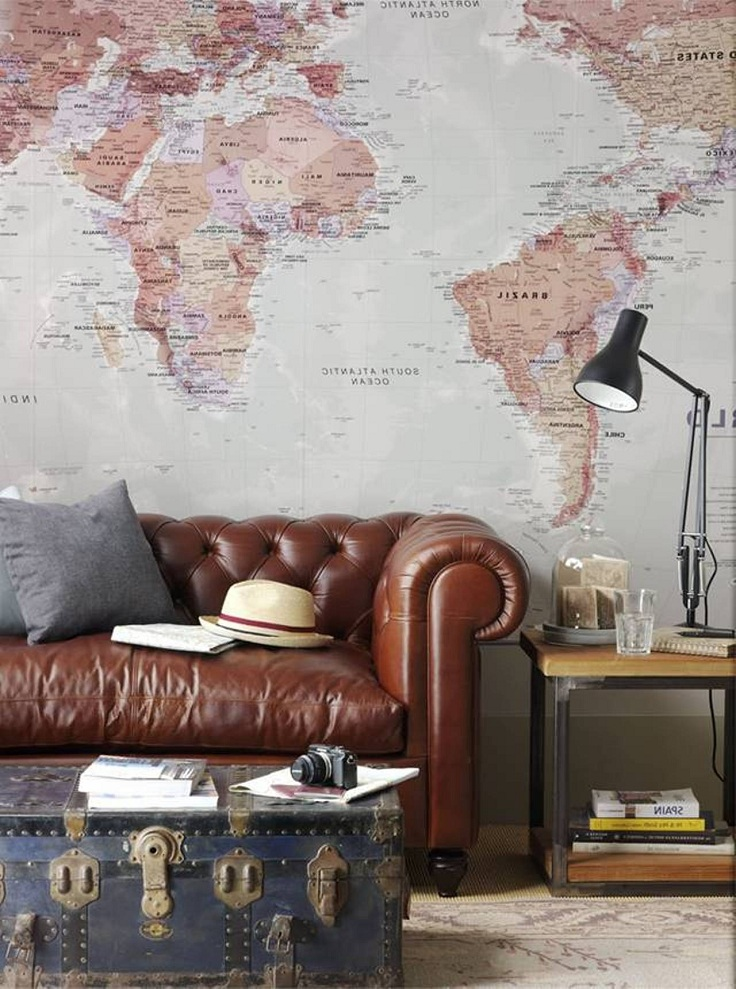 map wall decor wallpaper 736x989