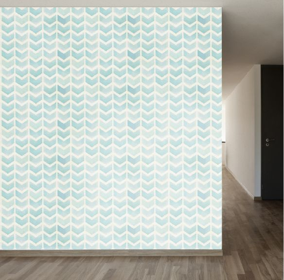 Faded Blue Chevron Removable Wallpaper Stencils Pinterest 584x576