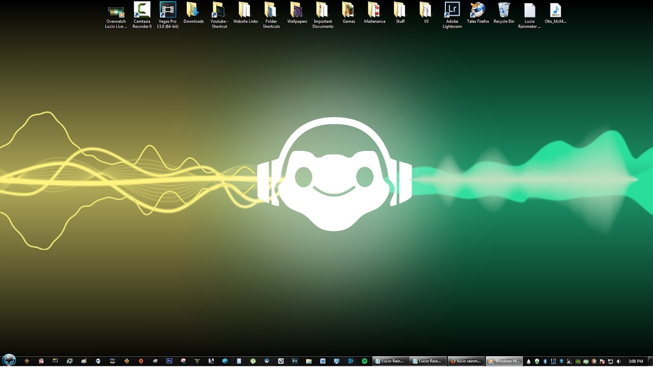 Free Download Overwatch Lucio Live Equalizer Music Rainmeter