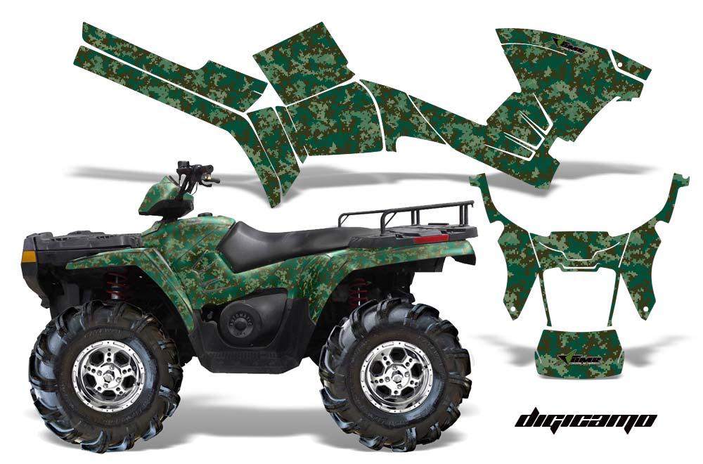 Polaris Sportsman 800 500 ATV Graphics Digicamo   Green Quad 1000x660