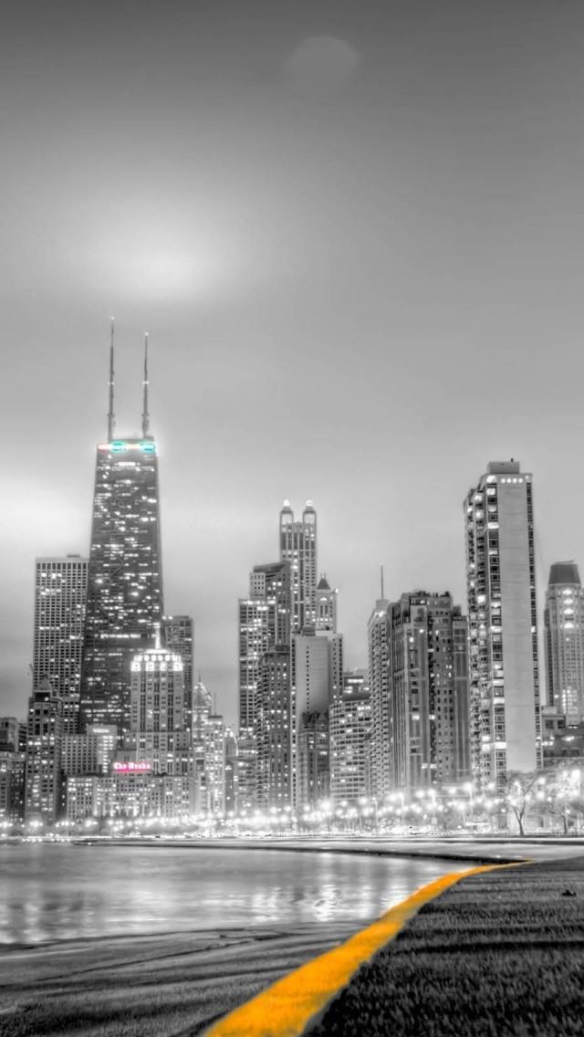 black white city iphone wallpaper tags black city skyscraper white 640x1136