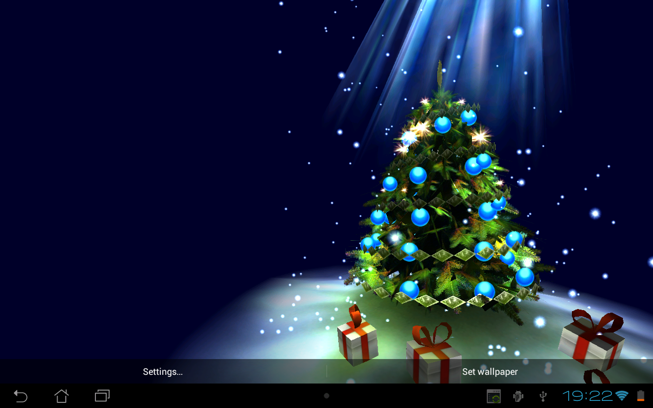 3d Christmas Tree Hd Wallpaper Christmas Tree 3D   Android App 1280x800