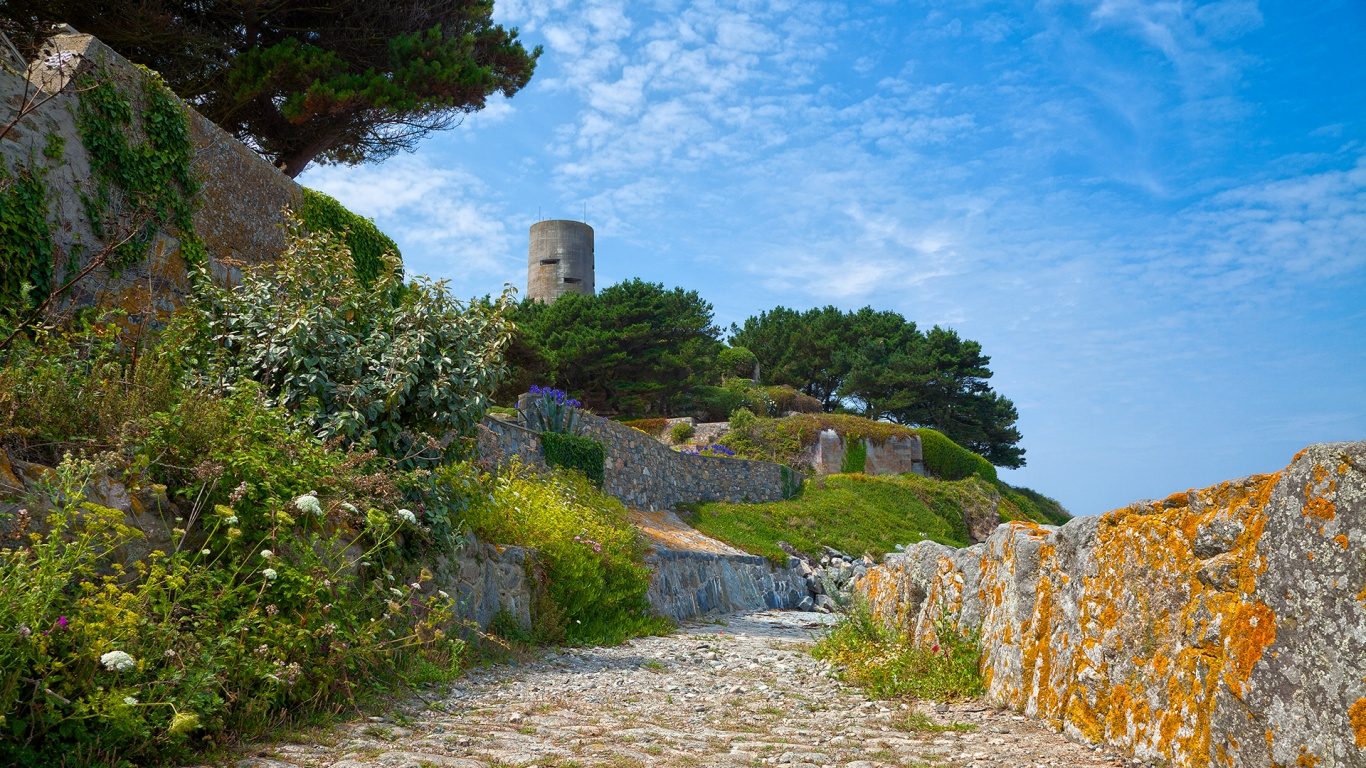 1366x768 Lovely Guernsey British Isles desktop PC and Mac wallpaper 1366x768