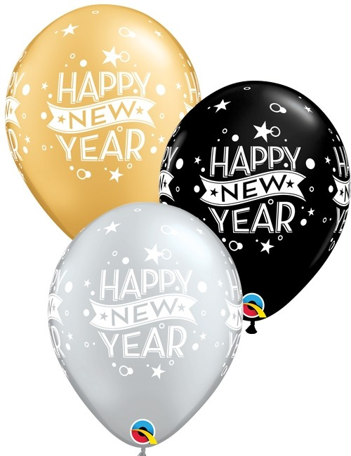 Helium Filled New Year Print Balloon New Year Party 500x650