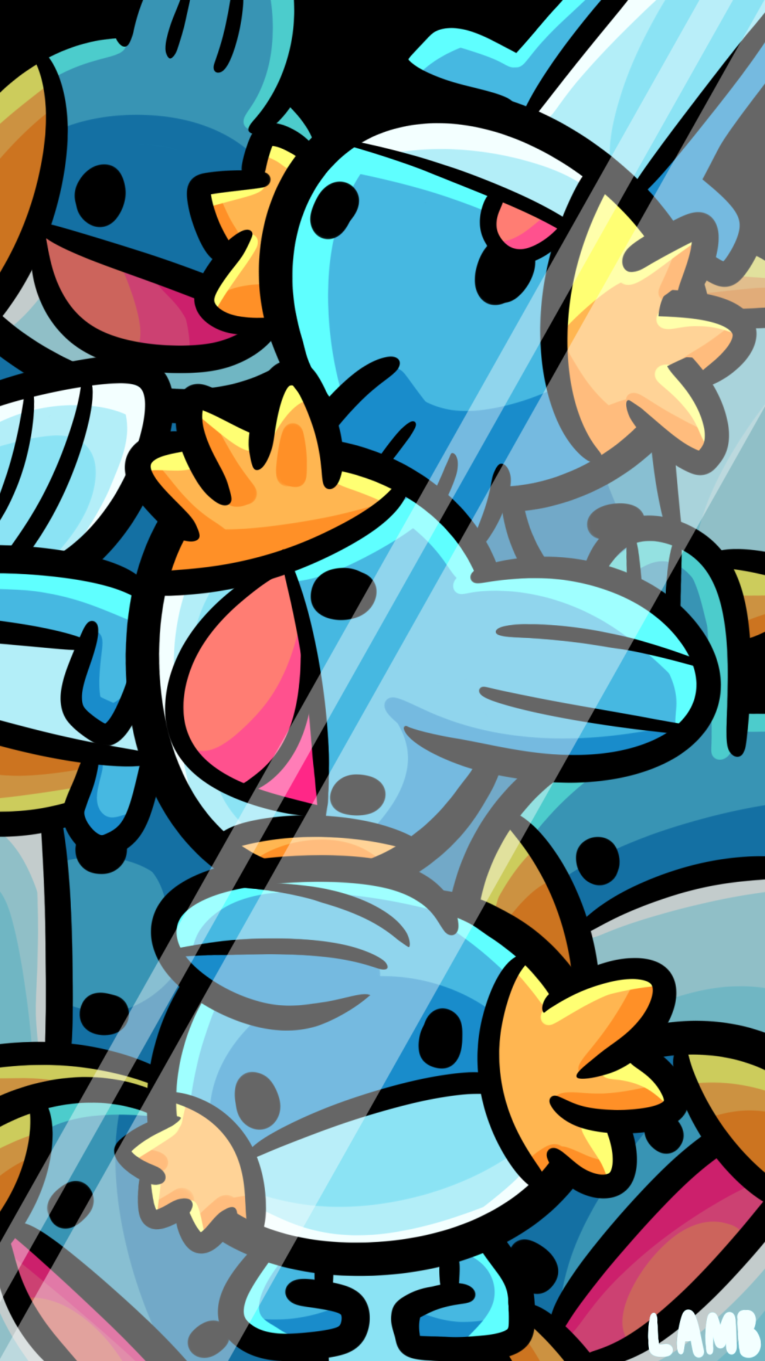 LamB   MUDKIP PARTY also a phone background 1080x1920