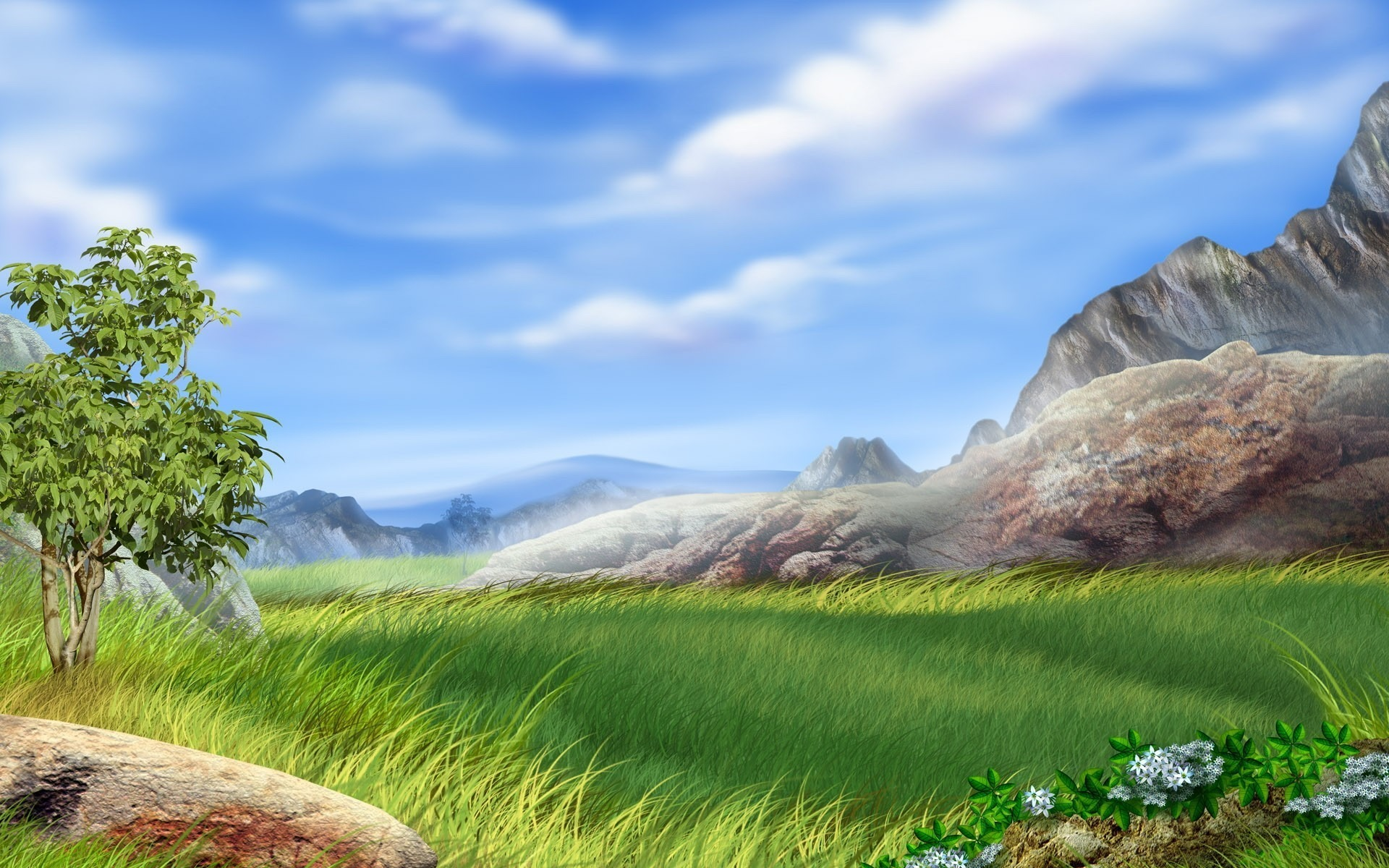 Wallpaperspoints Nature 3d PC Wallpaper Full HD 1920x1200