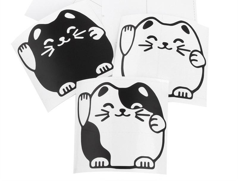 Lucky Cat Maneki neko wall sticker wallpaper set of 3 800x608