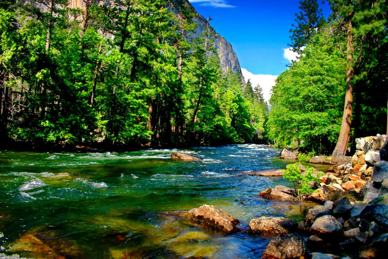 Mountain river   149185   High Quality and Resolution Wallpapers on 1350x900