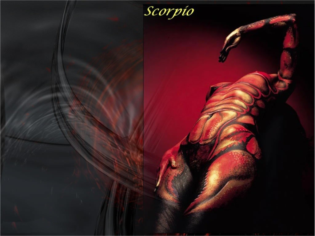 Scorpio 3D Abstract Wallpapers Zodiac Signs 1024x768