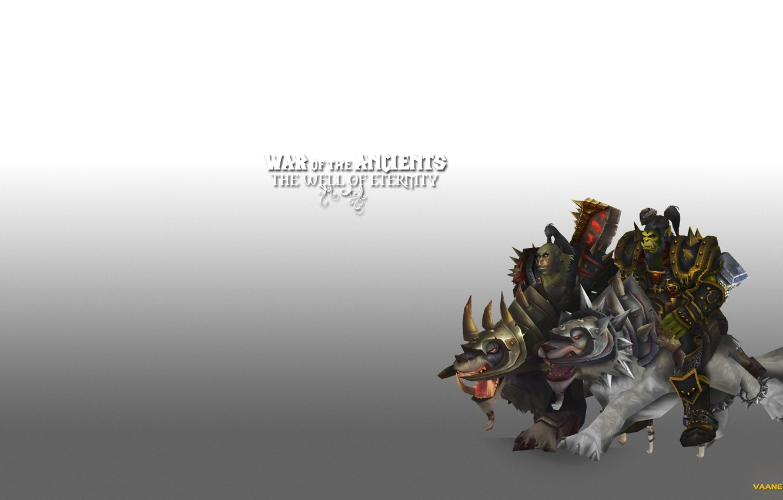 Wallpaper wolves warriors orcs wow world of warcraft Thrall 1332x850