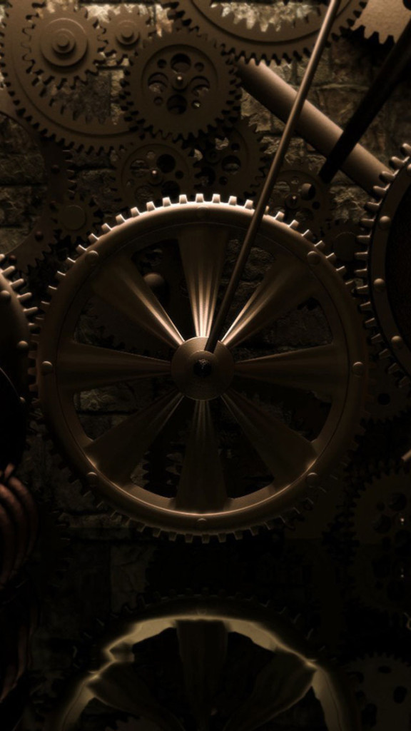 Old Gears Wallpaper   iPhone Wallpapers 576x1024