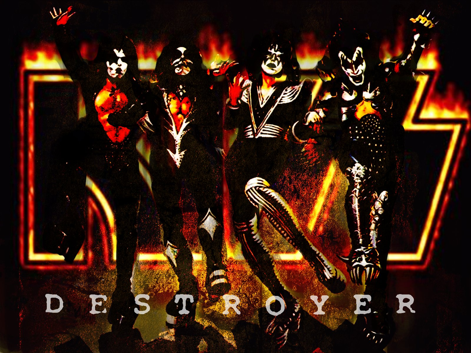 KISS images Kiss destroyer HD wallpaper and background photos 1600x1200