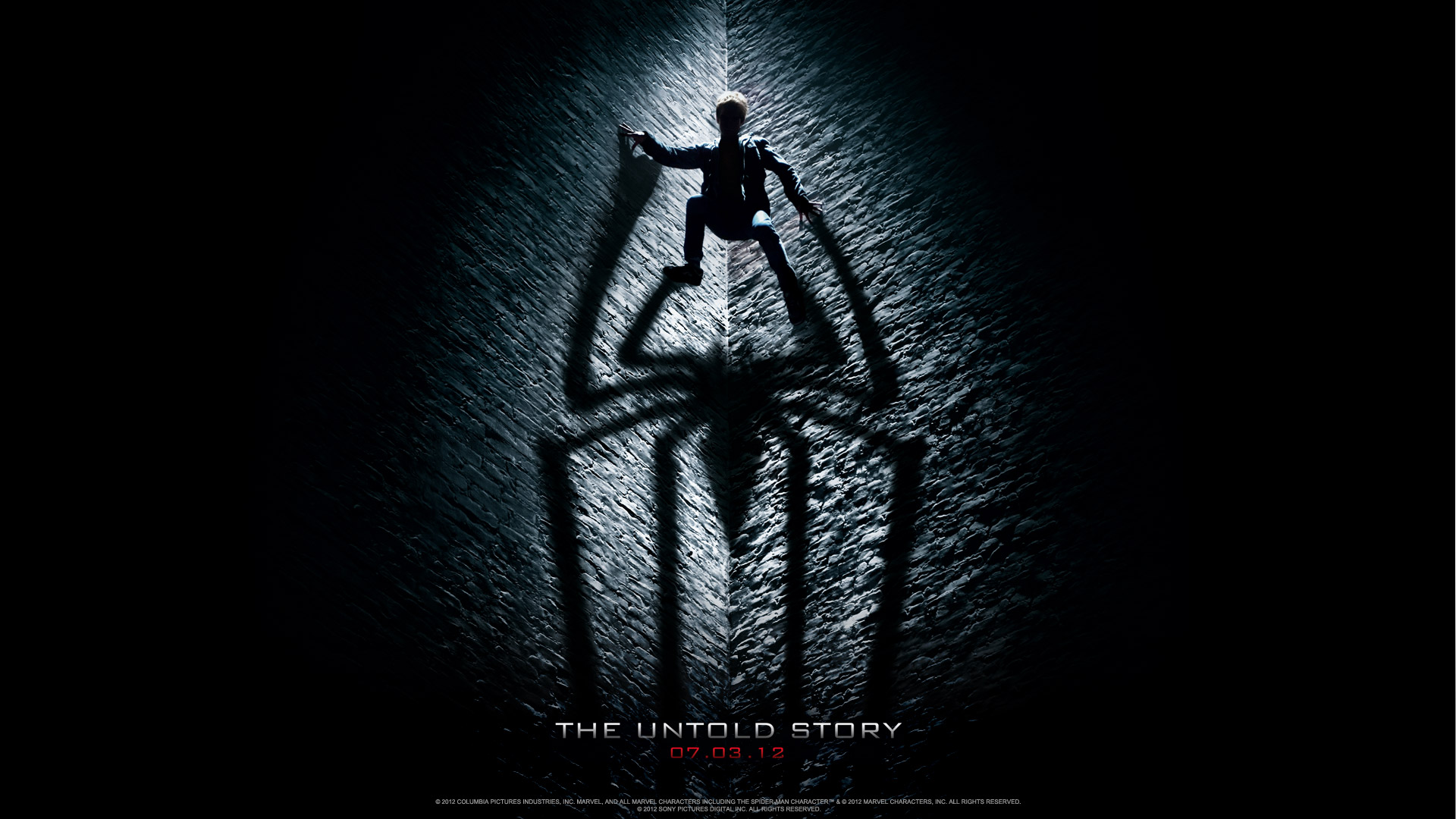 the amazing spider man 2012 shadow wallpaper the amazing spider man 1920x1080