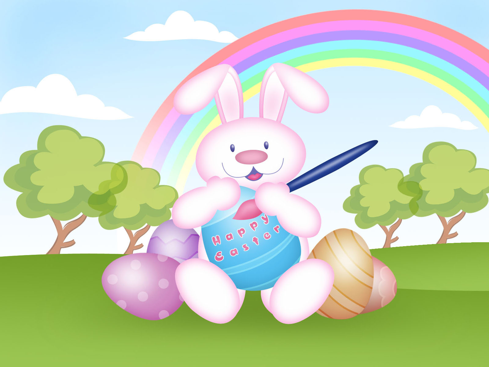 Happy Easter Bunny HD Wallpapers 9To5AnimationsCom 1600x1200