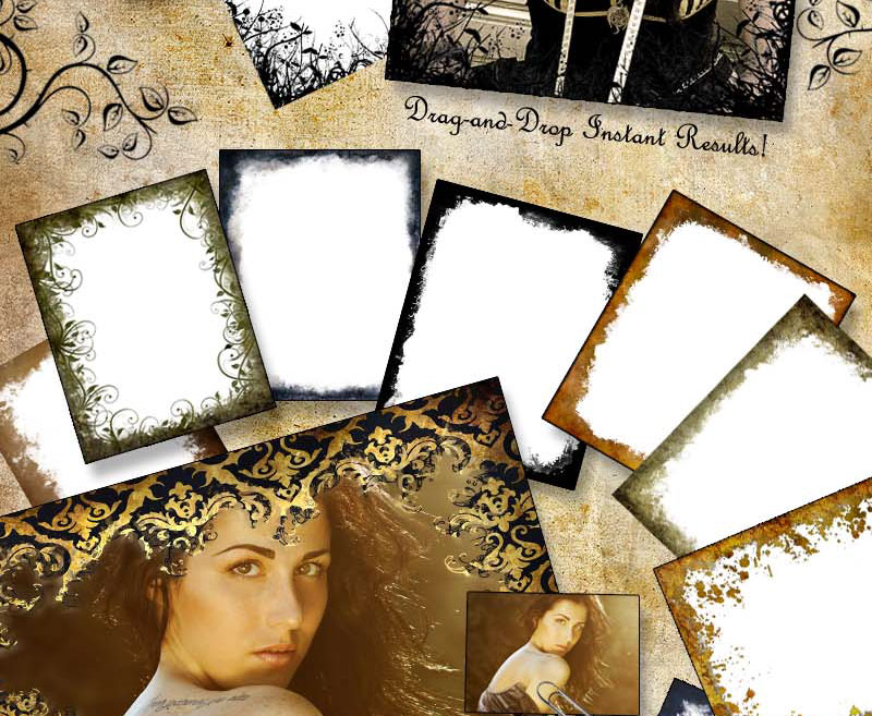Gothic Photography Photoshop Templates and Digital Backgrounds 800x657