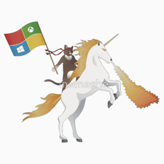 Ninja Cat Unicorn Stickers by memeshe Redbubble 550x550