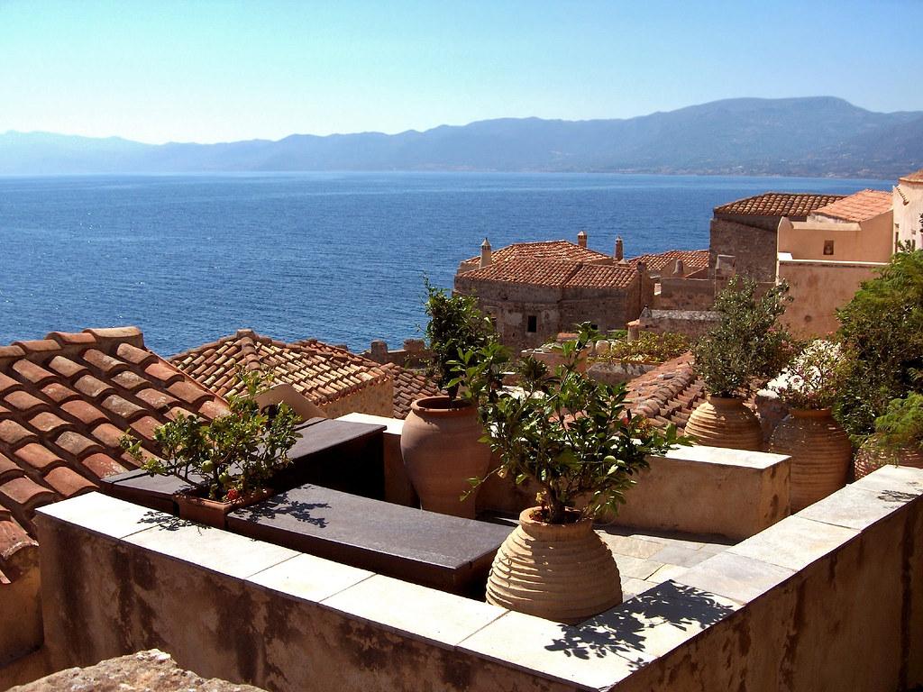 Monemvasia Roof View Greece Dimitris Karkanis Flickr 1024x768