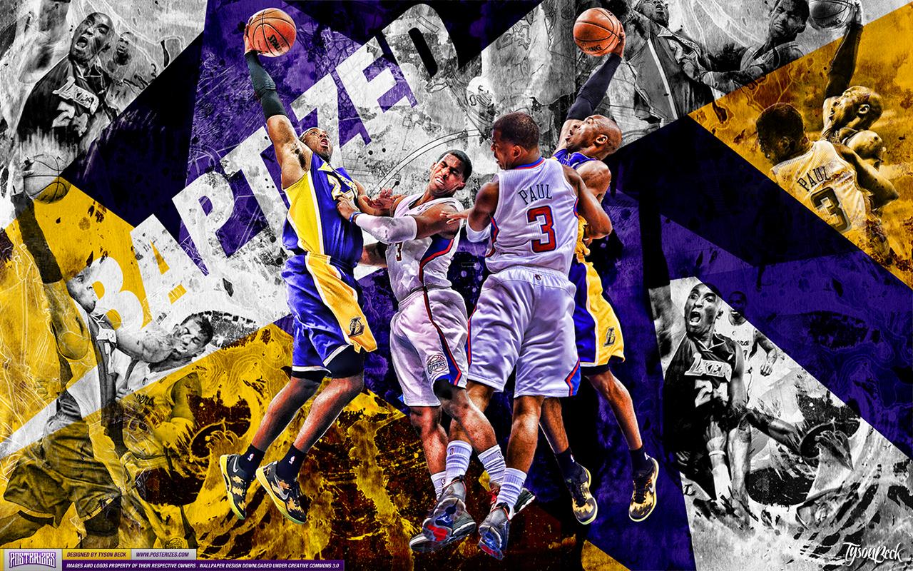 Kobe Bryant Dunk On Chris Paul Wallpaper 1280x800