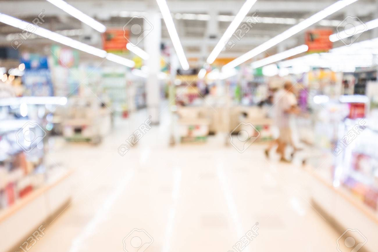 Abstract Blur Shopping Mall Background Stock Photo Picture And 1300x869