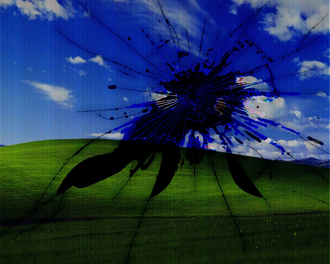 Broken LCD Wallpaper 1280x1024 Broken LCD Screens Bliss Windows 1280x1024
