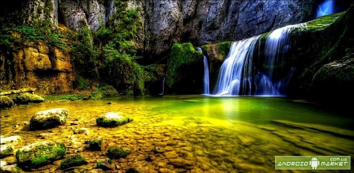 HD Waterfall 3D Live Wallpaper   Android market 705x345