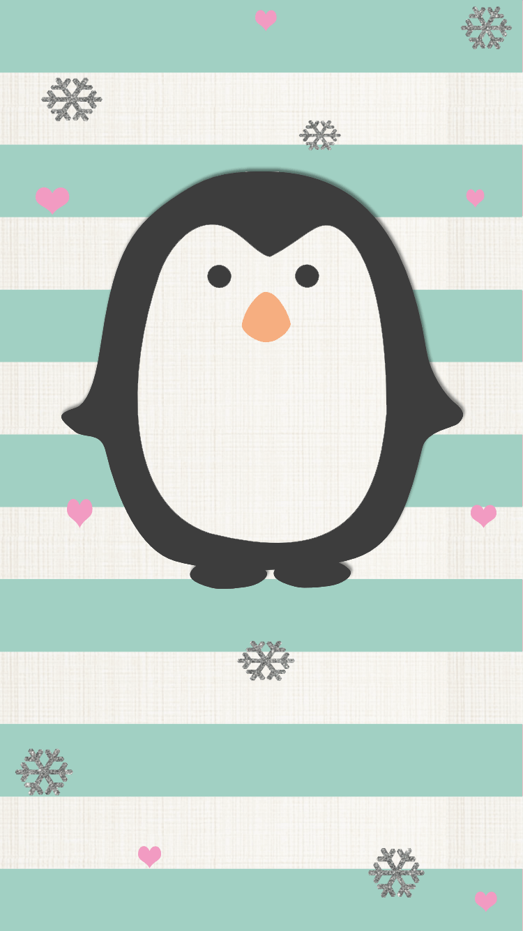 Pretty Walls Penguin freebie Even my phone wants to look cute 750x1336