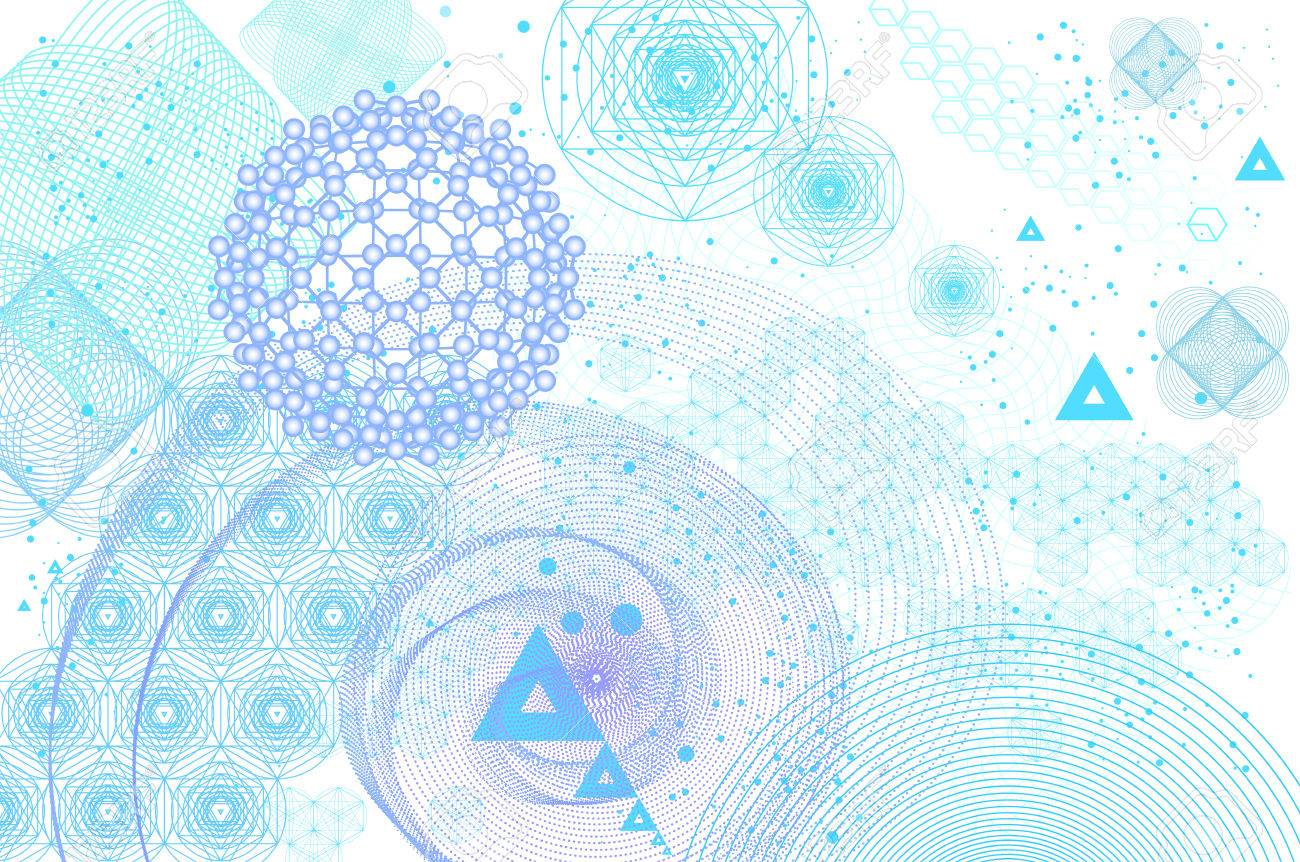 Sacred Geometry Symbols And Elements Background Cosmic Universe 1300x862