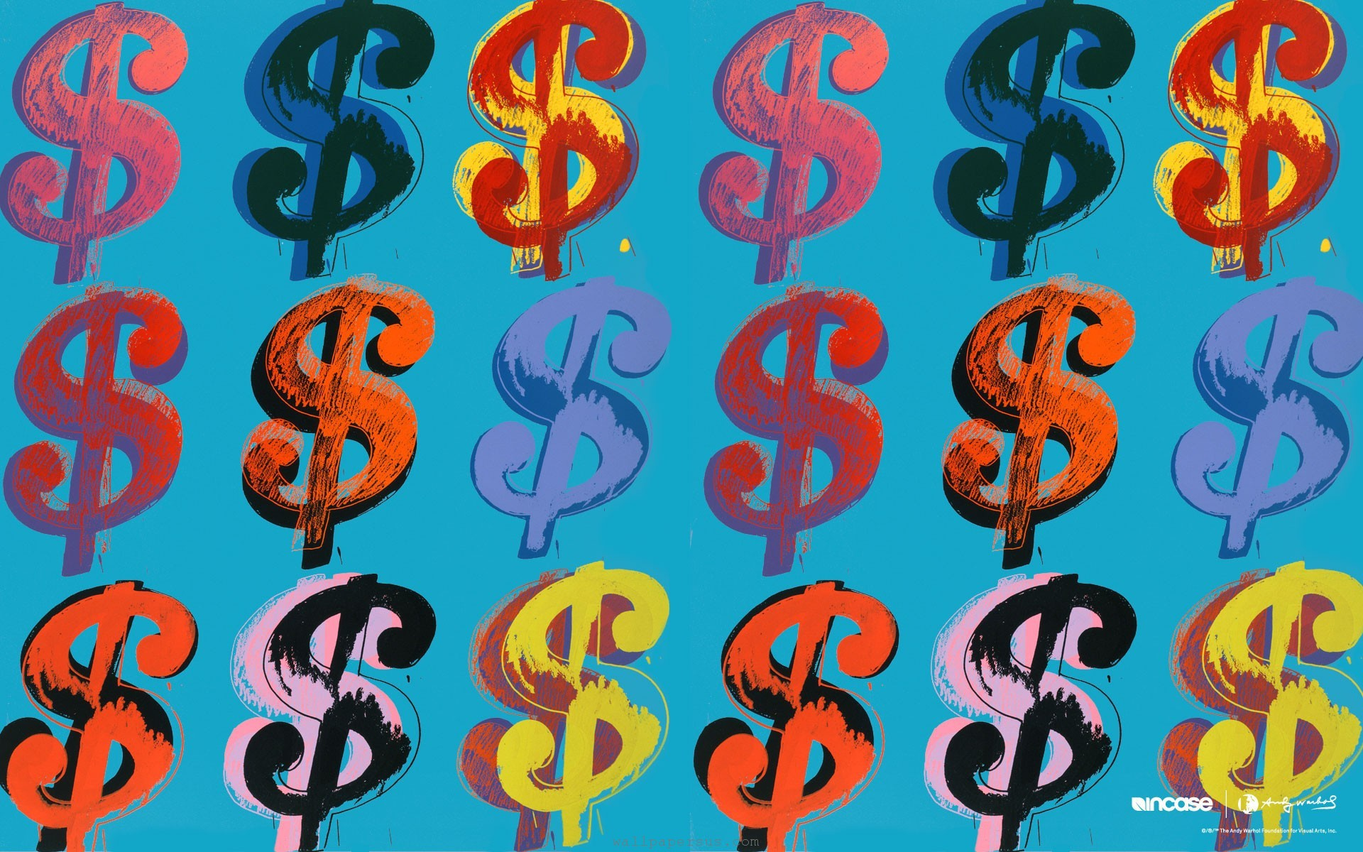Famous painting Andy Warhol Dollars wallpapers and images   wallpapers 1920x1200