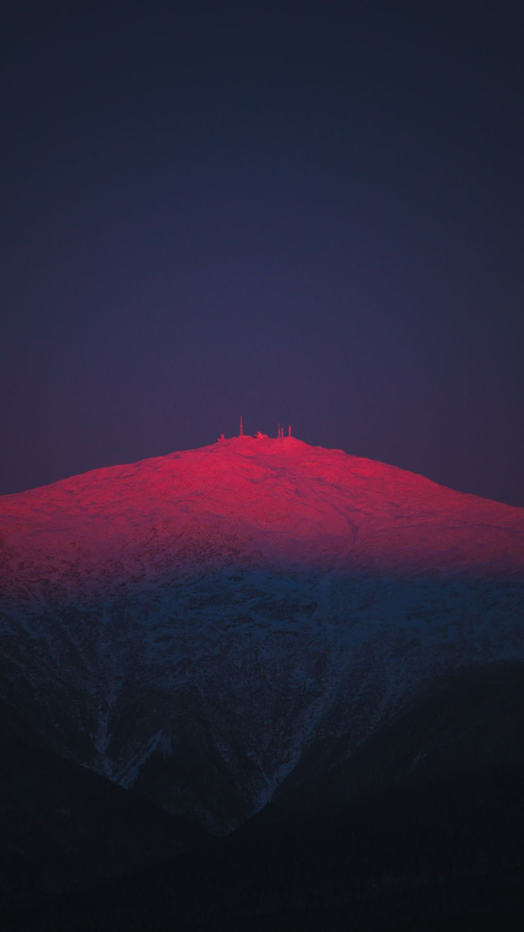 Alpenglow on Mount Washington at sunset in New Hampshire 1080x1920