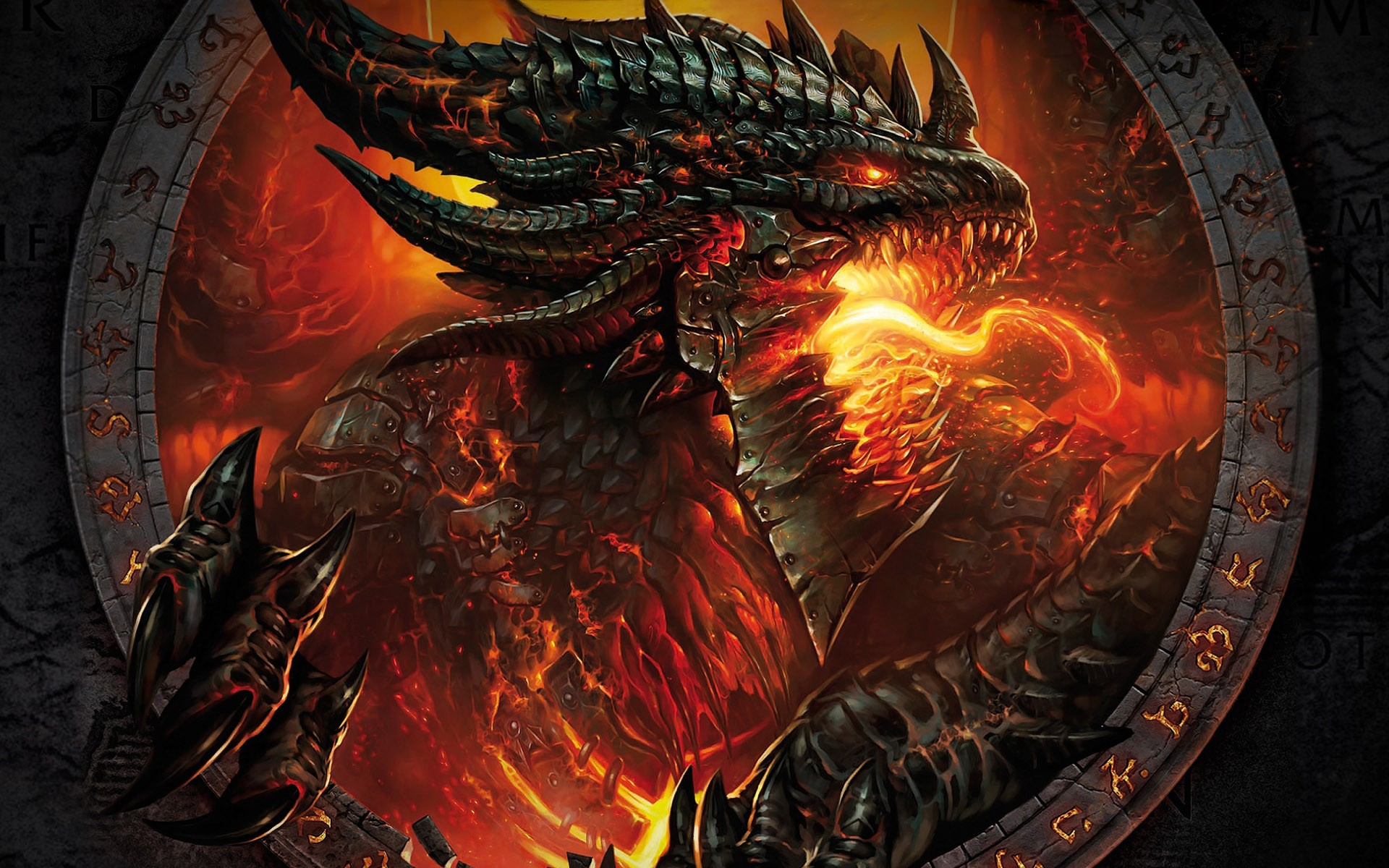 Download Wallpaper Screensaver with the dragon of WoW Cataclysm 1920x1200